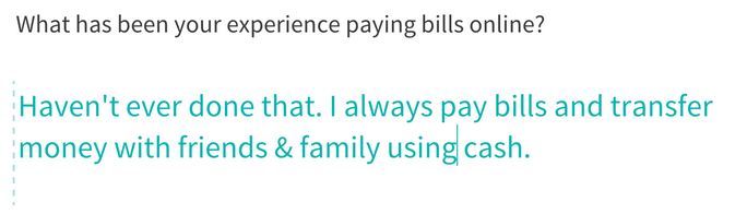 user experience - ux - paying bills online - survey